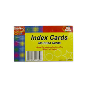 60 Pack ruled index cards | sterling