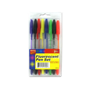 8 Pack fluorescent colored pen set | sterling