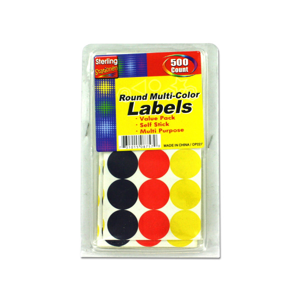 Round multi-color labels | sterling