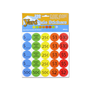 Yard Sale Pricing Stickers | yard sale stickers