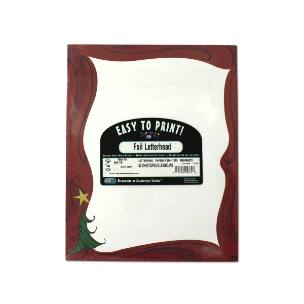 Christmas tree stationery with gold star | bulk buys