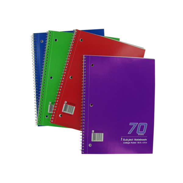 One subject spiral notebook | bulk buys