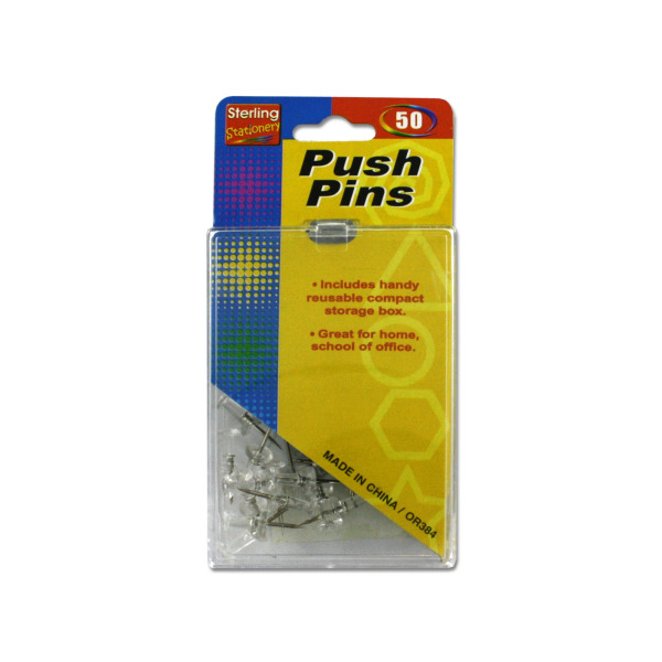 Clear push pins | sterling
