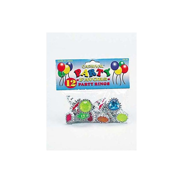 Colorful jewel party favor rings | carnival party favors