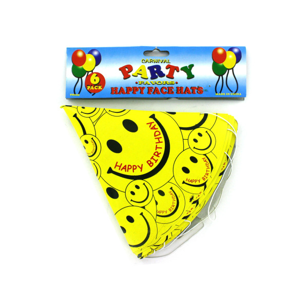 Happy Face birthday hats   carnival party favors