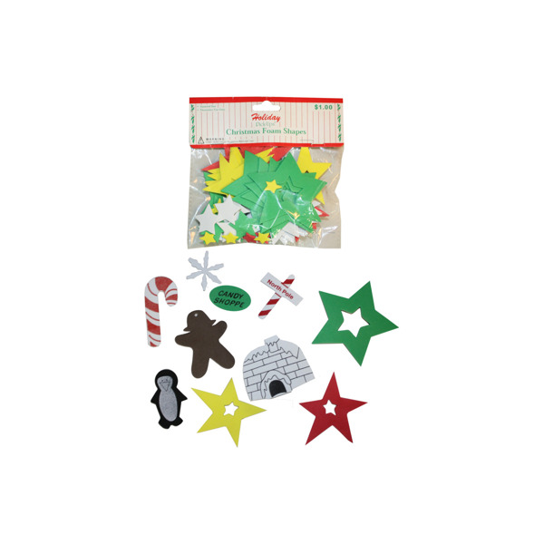 Holiday Christmas foam shapes | bulk buys