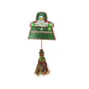 Holiday tassel ornament with gems, assorted designs | bulk buys