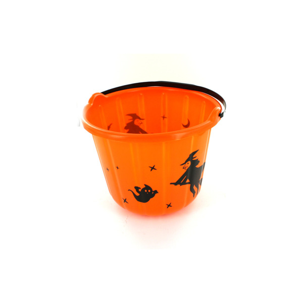 Orange Halloween bucket, ghosts and witches   bulk buys